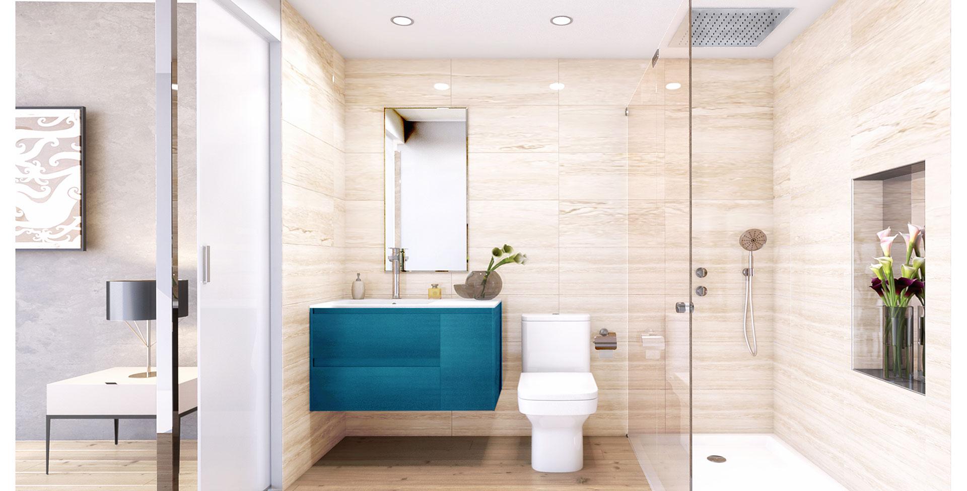 La cañada de los Ingleses, vista interior cuarto de baño
