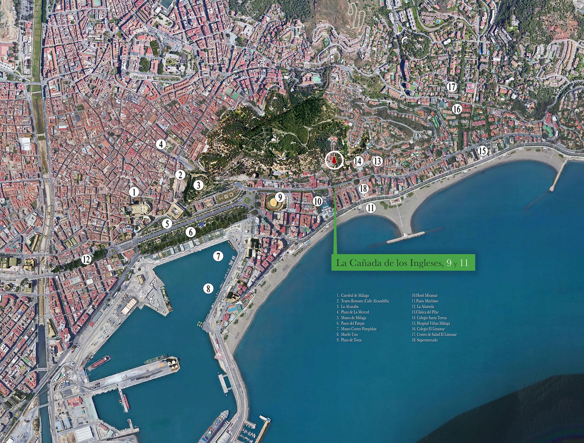 Vista aérea 1 de la promoción La Cañada de los Ingleses 9 y 11